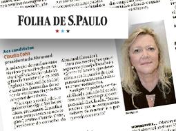 Claudia Cohn fala à  Folha de S.Paulo