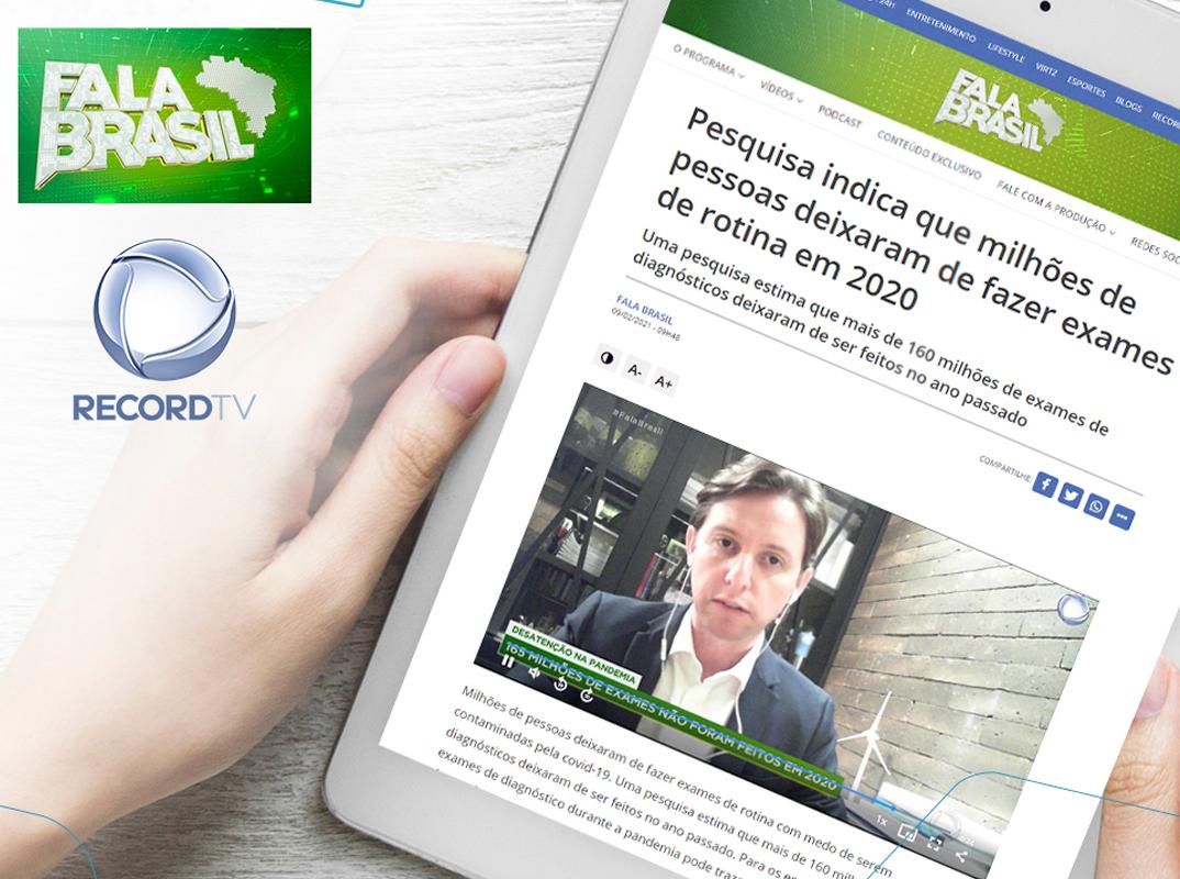 Abramed fala à Record TV sobre represamento de exames devido à pandemia de COVID-19