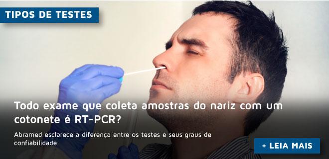 Todo exame que coleta amostras do nariz com um cotonete é RT-PCR?